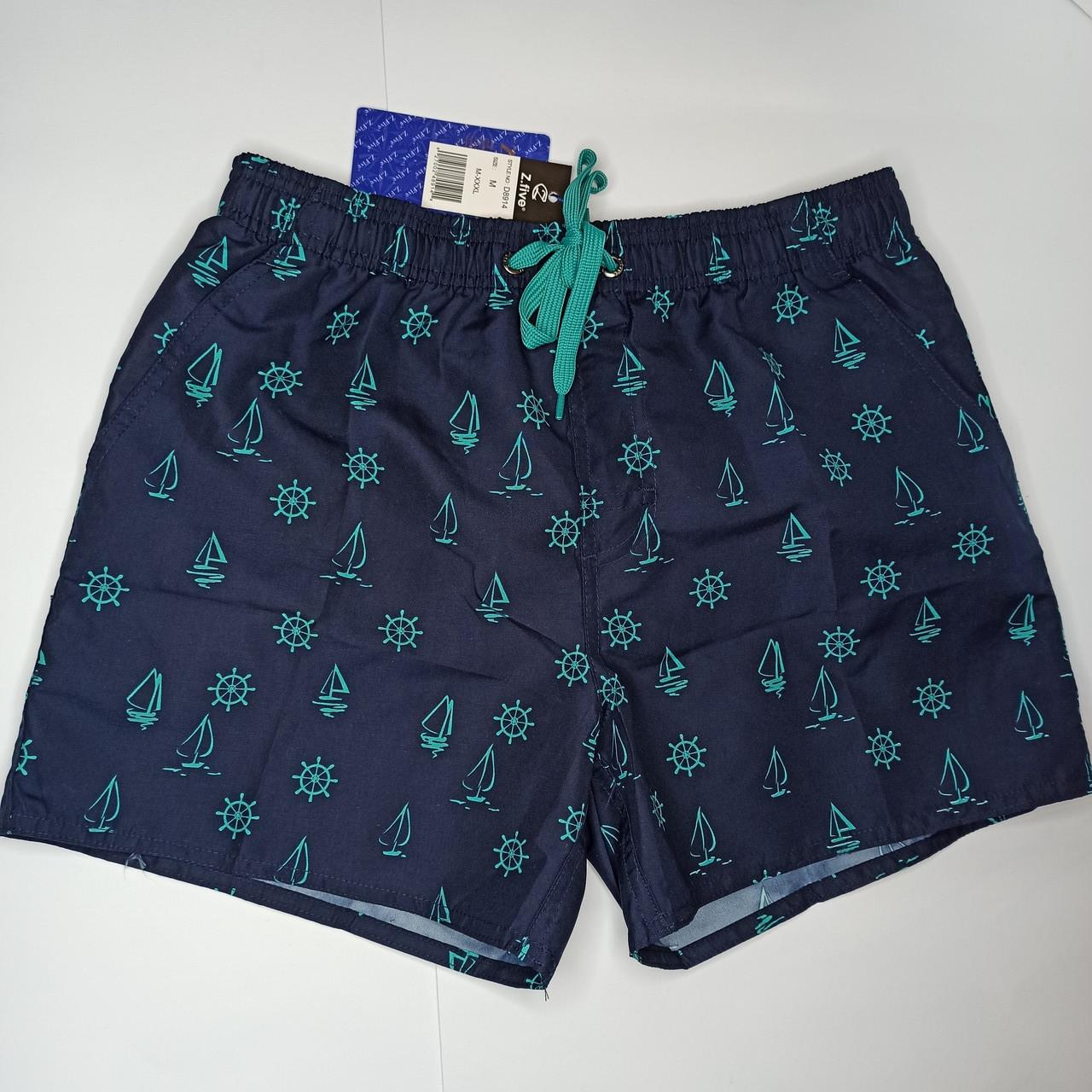 Мужские короткие шорты Z.Five 8914 бирюзовые 44 46 48 50 52 размер