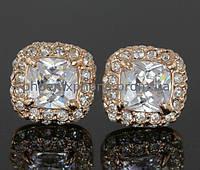 Изысканный комплект с кристаллами Swarovski, покрытый золотом (600640)