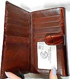 Женский кожаный лаковый кошелек Danica на кнопке (монетница внутри) и с визитницей, фото 2