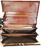 Женский кожаный лаковый кошелек Danica на кнопке (монетница внутри) и с визитницей, фото 3