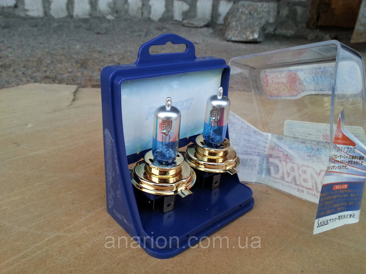 Лампы галогенные Raibrig H4 12V 100/90W P43T на ВАЗ 2106,ВАЗ 2109-двухцветные.
