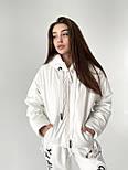 Демисезонная куртка из матовой экокожи на молнии с капюшоном короткая (р. 42-46) 6501591, фото 2