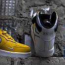 """Чоловічі кросівки Air Force, """"White/Yellow"""", фото 5"""