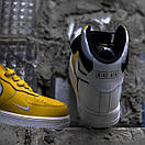 Мужские кроссовки Nike Air Force White / Yellow, фото 5