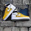 Мужские кроссовки Nike Air Force White / Yellow, фото 4