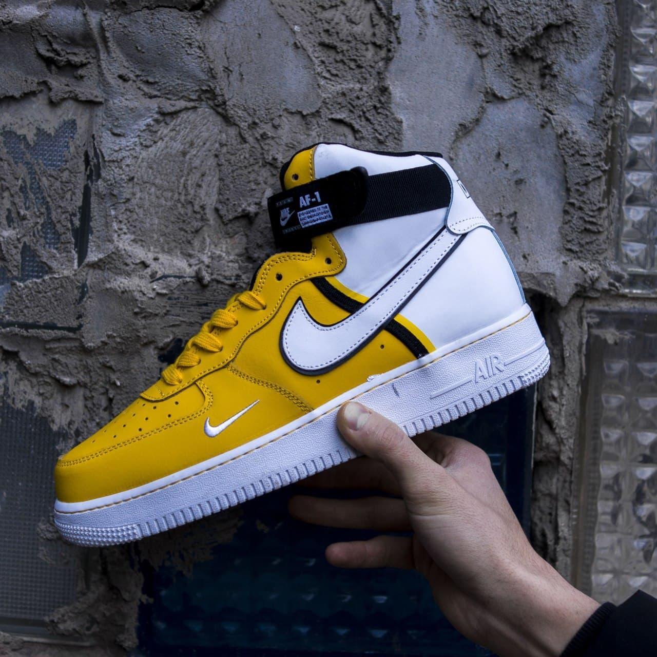 """Чоловічі кросівки Air Force, """"White/Yellow"""""""