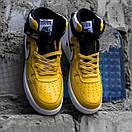 Мужские кроссовки Nike Air Force White / Yellow, фото 2