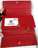 Женский красный лаковый кошелек Chanel на кнопках (натуральная кожа), фото 4