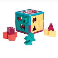 Развивающая игрушка-сортер - УМНЫЙ КУБ (12 форм)