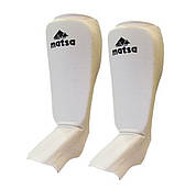 Спортивная защита для ног голени и стопы белая Matsa