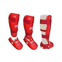 Спортивная защита для ног голени и стопы красная Everlast