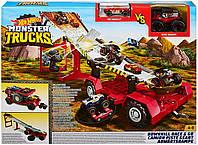 Игровой набор Хот Вилс Оригинал Передвижной Трамплин Hot Wheels Monster Trucks Downhill Race (GFR15)