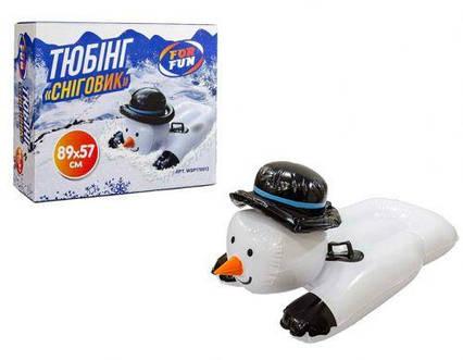 """Тюбинг """"Снеговик"""", 89 х 57 см 170013"""