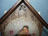 Ключница Домик с птичкой, ручная работа, фото 2