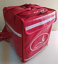 Рюкзак для доставки еды пиццы суши с горизонтальной -вертикальной загрузкой. Сумка для доставки еды пиццы. ПВХ