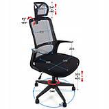 Ергономічне офісне крісло з функцією гойдання: Ergosolid AMO-90, фото 7