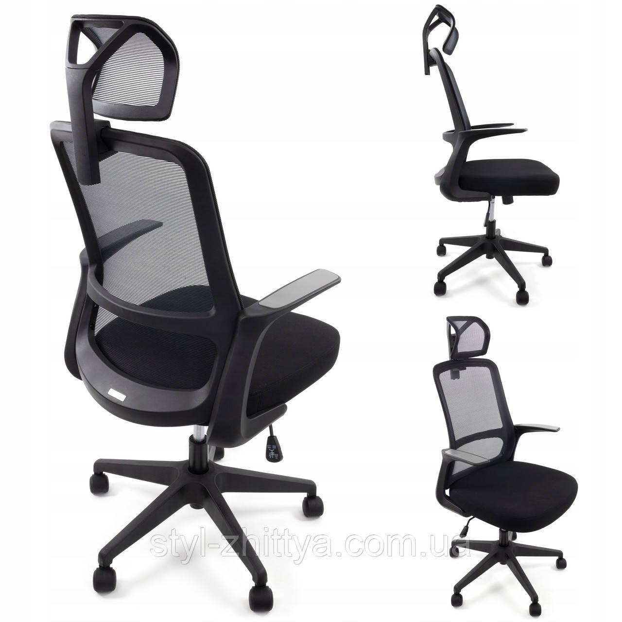 Ергономічне офісне крісло з функцією гойдання: Ergosolid AMO-90