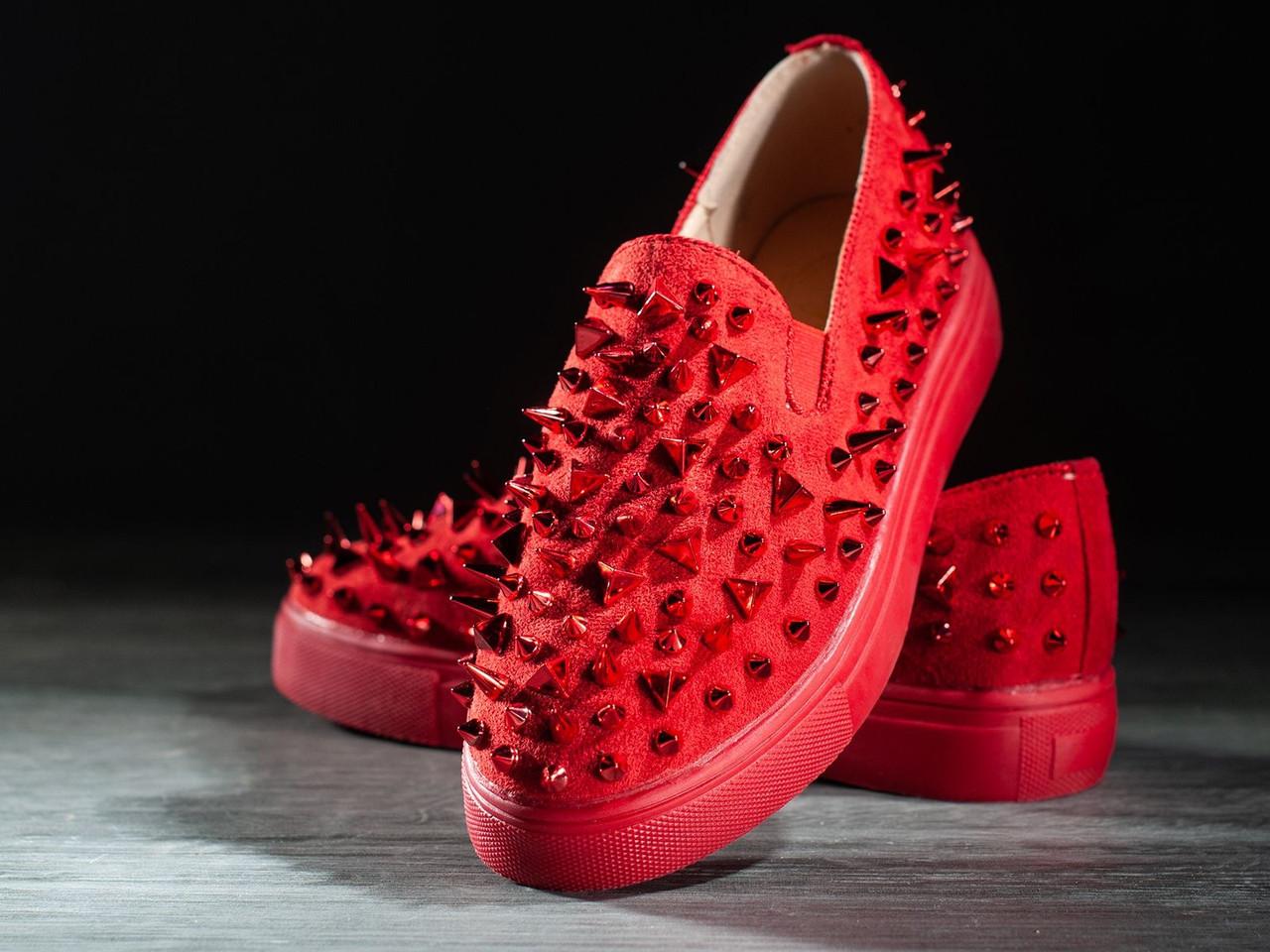 Дизайнерские женские кроссовки 6 пар в ящике красного цвета 36-41