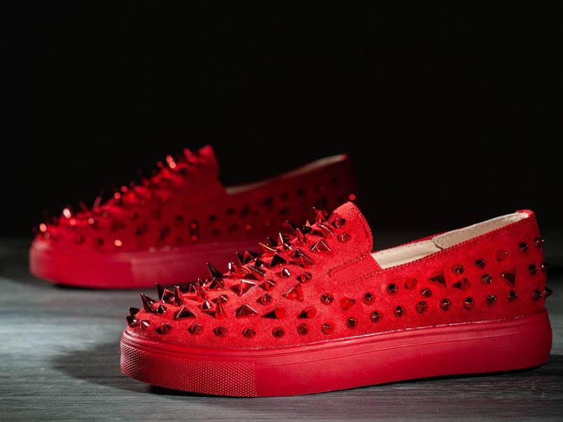 Дизайнерские женские кроссовки 6 пар в ящике красного цвета 36-41, фото 2