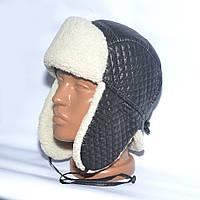 Теплая детская шапка-ушанка на зиму из искуственного меха - модель 114-15
