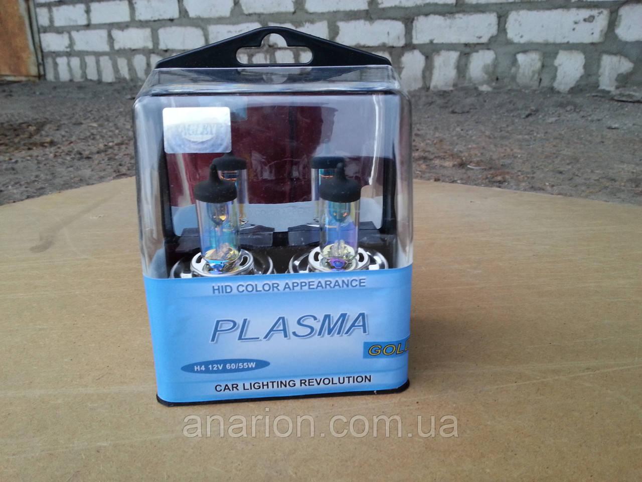 Автолампа H4 12v 60/55w P45T Plazma Gold на ВАЗ 2101- для дождливой погоды!