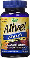 Витамины для мужчин Nature's Way Alive Men's Gummy Multivitamin 60 конфет