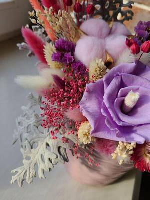 Букеты из сухоцветов и стабилизированных цветов