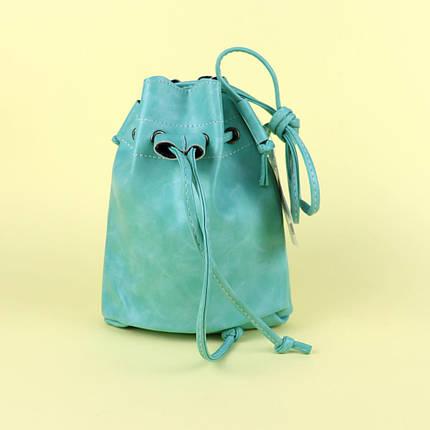 13 Модная яркая сумочка для девочек 1 отделение застежка-завязка длинная ручка 22-19-6 см, фото 2