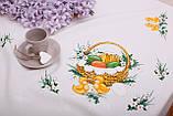 Скатерть Пасхальная 145-220 «Пасхальная Корзина» Желтый узор Бежевая, фото 3