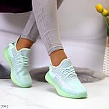 Удобные мягкие текстильные тканевые серые мятные женские кроссовки, фото 4