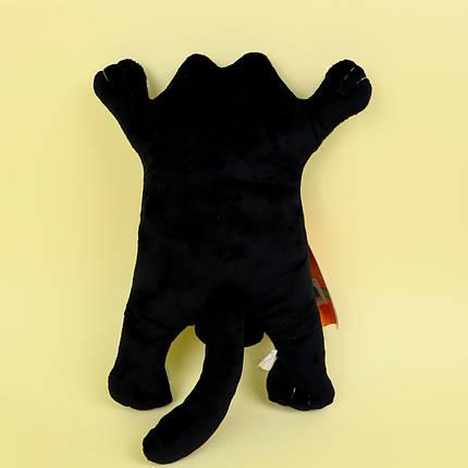 00284-134чер Мягкие игрушки Котик Саймон черный на присосках в машину 25 см, фото 2