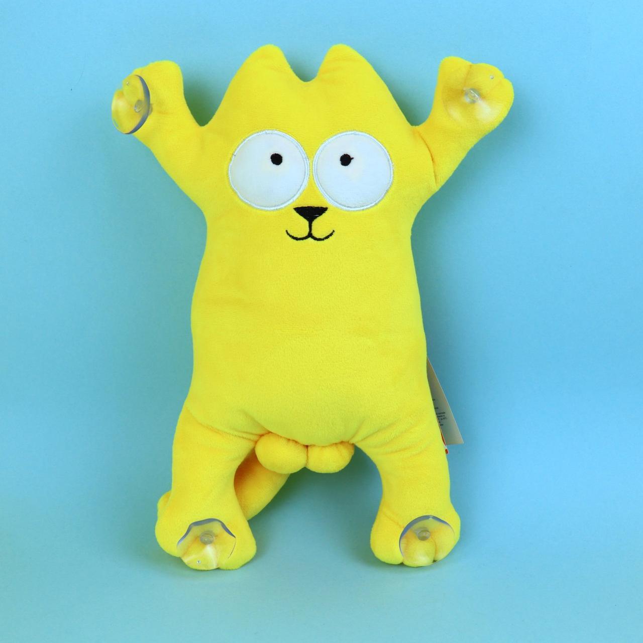00284-13оран Кот Саймон желтый мягкие игрушки на присосках тм Копиця