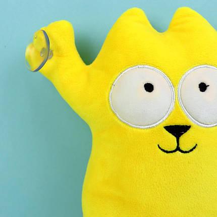 00284-13оран Кот Саймон желтый мягкие игрушки на присосках тм Копиця, фото 2