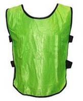 Детская манишка футбольная на шею зеленая