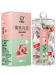 Чай улун с кусочками яблока и персика в пирамидках 80 г