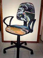 Кресло компьютерное ПРЕСТИЖ ЛЮКС (дизайн гонки), фото 1