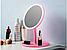 Настольное косметическое зеркало для макияжа с led подсветкой и вентилятором Beauty Breeze Mirror РОЗОВОЕ, фото 5