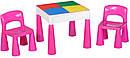 Стіл та 2 стільчика Tega Mamut 899P dark pink / white, фото 2