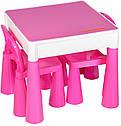 Стіл та 2 стільчика Tega Mamut 899P dark pink / white, фото 3