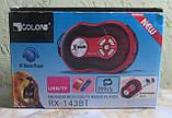 Радіоприймач Golon RX-143BT (USB, SD, акумулятор) (червоний), фото 2