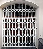 Решетки раздвижные на двери Шир.1365*Выс2100мм для банков, фото 4