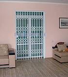Решетки раздвижные на двери Шир.1365*Выс2100мм для банков, фото 7