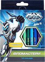 Фломастеры Max Steel, 12 цветов, Kite