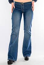 Джинсы женские OMAT 9074 клеш синие