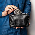 """👞 Набор для чистки обуви кожаный """"Elite"""": мягкая и жесткая щетки, салфетка + 2 крема (черный и бесцветный), фото 7"""
