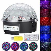 Музыкальный диско-шар Magic Ball Music Светомузыка с пультом Bluetooth и USB-флешка