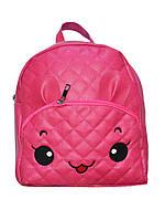 Рюкзак кожзам для девочки малиновый