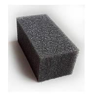 Мочалка среднепористая серая без прорезей 4х5х10 см