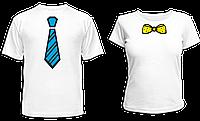 """Парные футболки """"Галстук и Бантик"""", фото 1"""