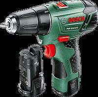 Дрель-шуруповерт Bosch PSR 10,8 Li-2, (2 акк) 0603972926